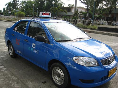 Blue Taxi Cab